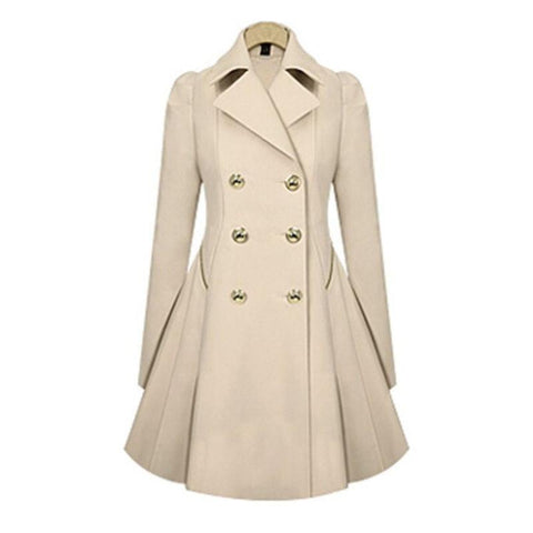 Womens Winter Trench Fashion Outwear Stylish Long Parka Coat - Toplen