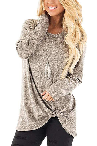 Womens Autumn Long Sleeve Casual Loose Tops - Toplen