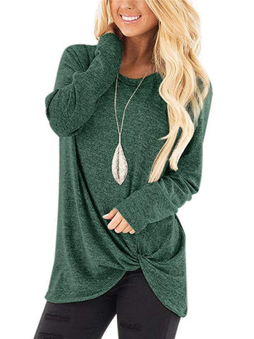 Womens Long Sleeve Casual Loose Tops - Toplen