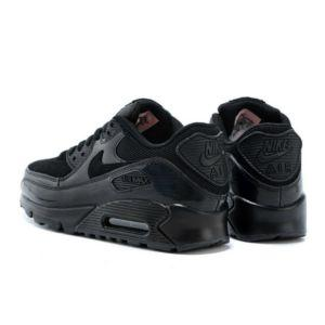the latest 3703d 50139 Nike Air Max 90 Leather Men s Shoes Black - Toplen