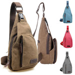 Unisex Canvas Casual Military Hiking Bicycle Crossbody Chest Bag Shoulder Bag - Toplen