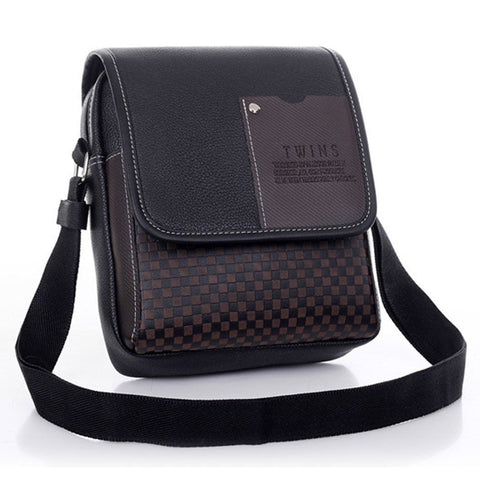 Men Black Handbag Briefcase Shoulder Messenger Bag - Toplen