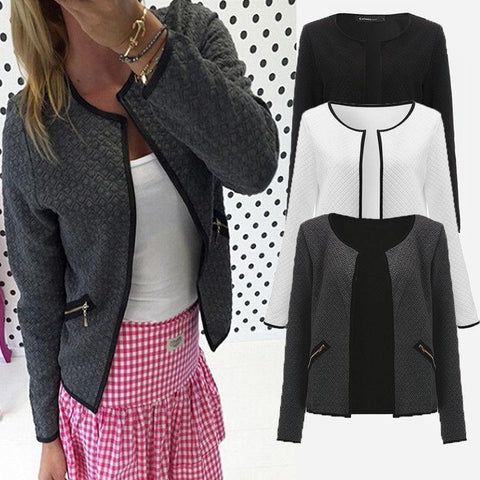 Womens OL Casual Slim Suit Blazer Coat Jacket - Toplen