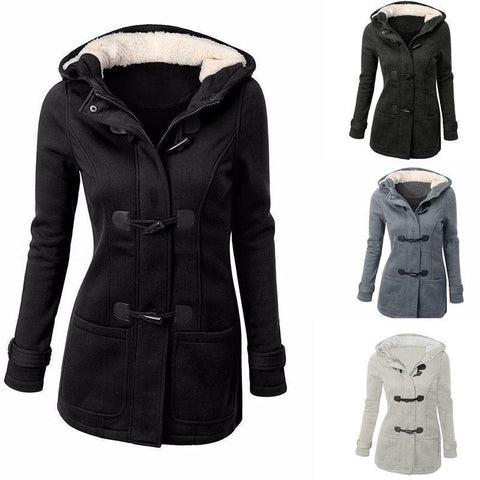 Womens Warm Coat Jacket Outwear Hooded Parka Overcoat - Toplen