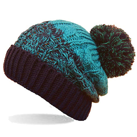 Unisex Mens Womens Winter Pom Beanie Hats - Toplen