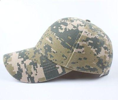 Unisex Men Women Camo Military Army Baseball Adjustable Cap - Toplen
