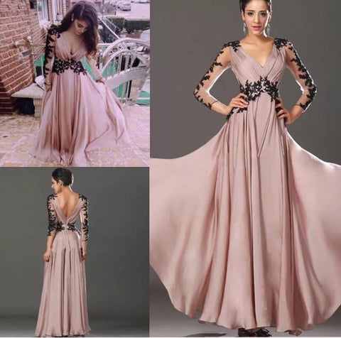 7fc1f859ced Sexy Lace Chiffon Evening Party Ball Prom Gown Formal Bridesmaid Cocktail  Dress - Toplen