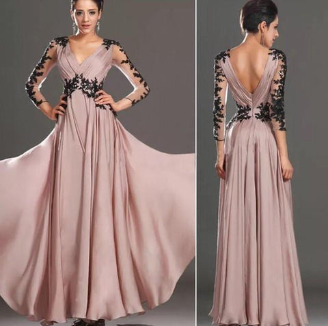Sexy Lace Chiffon Evening Party Ball Prom Gown Formal Bridesmaid Cocktail Dress - Toplen