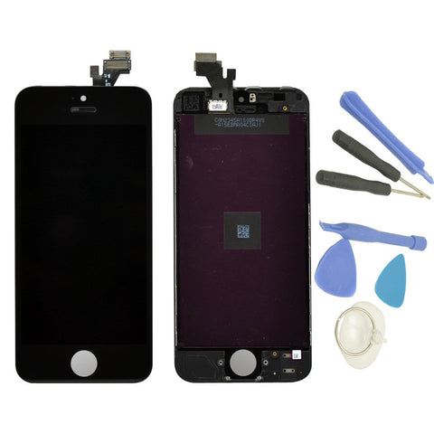 Iphone 5 5S SE Black LCD Display Touch Screen Digitizer Assembly Replacement - Toplen
