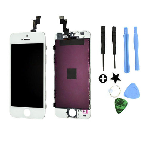 Iphone 5 5S SE White LCD Display Touch Screen Digitizer Assembly Replacement - Toplen