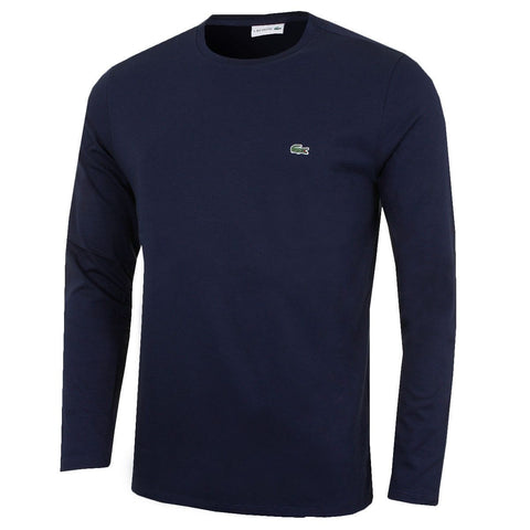 Mens Lacoste Long Sleeve Crew Neck Polo T Shirts - Toplen