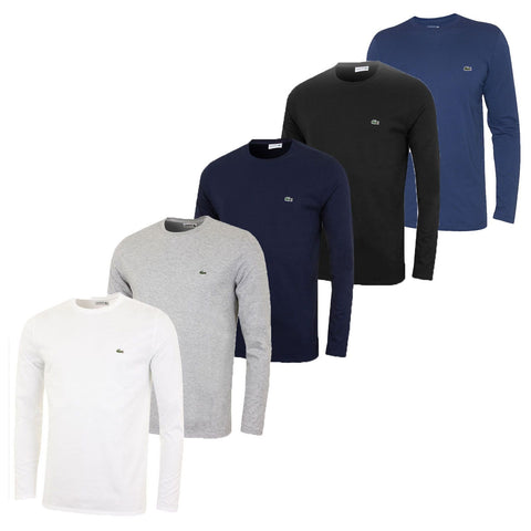 Mens Lacoste Long Sleeve Crew Neck T-Shirt - Toplen