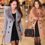 Womens Winter Long Coat Parka Fleece Overcoat - Toplen