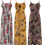Ladies Strappy Floral Print Long Maxi Summer Casual Dress - Toplen