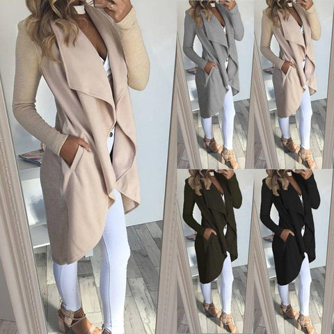 Women Winter Knitted Sweater Long Overcoat Cardigan Coat - Toplen