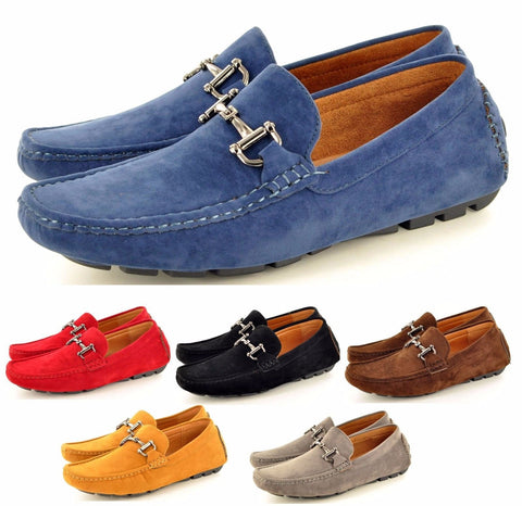 Mens Casual Loafers Moccasins Slip On Driving Shoes - Toplen