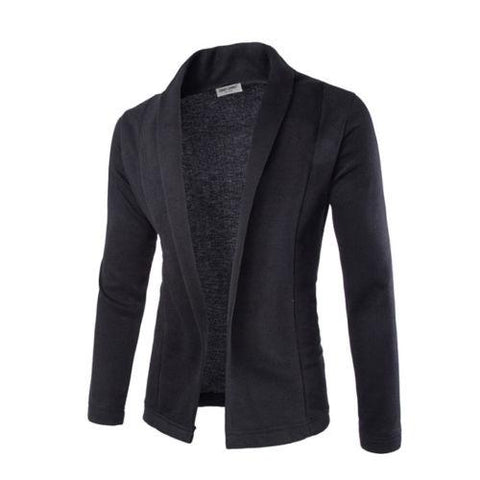 Mens Soft Cotton V Neck Cardigan Jumper Casual Sweater - Toplen
