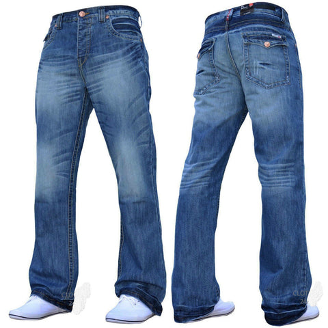 New Mens Boys Straight Leg Stylish Jeans All Waist & Sizes - Toplen