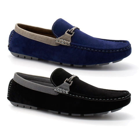 Mens Casual Loafers Smart Moccasins Faux Suede - Toplen