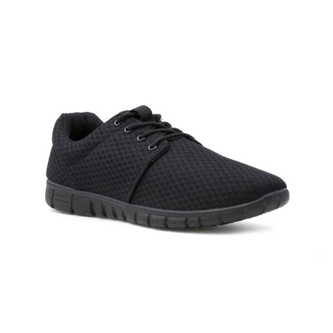 Mens Mesh Lightweight Trainer Black - Toplen
