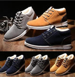Mens Winter Thicken Fleece Warm Shoes Casual Ankle Boots - Toplen