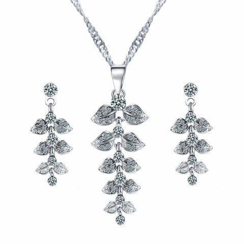 Brilliant Leaf Jewellery Set - Toplen
