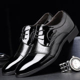 Pointed Toe Leather Shoes Business Wedding - Toplen