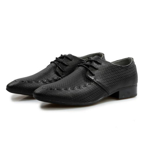 Men Formal Business Office Wedding Pointed Designers Lace Up Shoes - Toplen