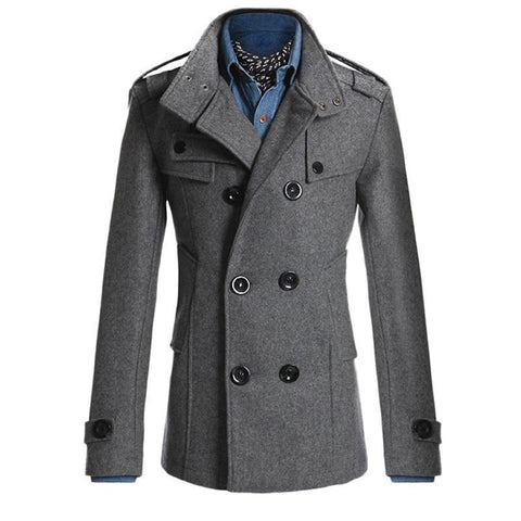 Mens Autumn Winter Elegant Smart Trench Coat