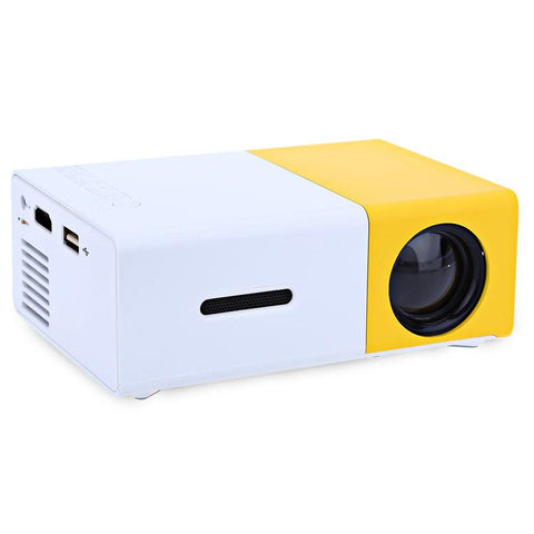 YG300 LCD Projector Full HD 1080P Mini Portable Home Theather Cinema LED Projector - Toplen