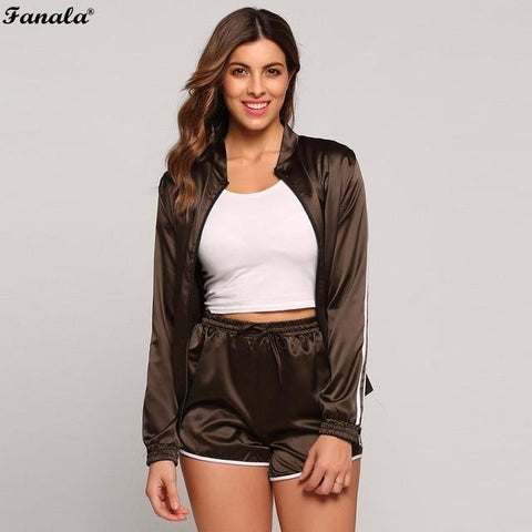 Women Sporting Suits Two Piece Set Tracksuit - Toplen