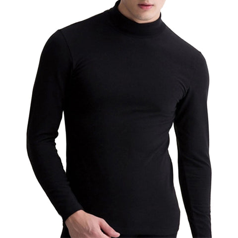 Mens Autumn Winter Turtle Neck Tops - Toplen