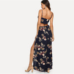 Multicolor Boho Floral Print Cami Top And Palazzo Pants Set - Toplen