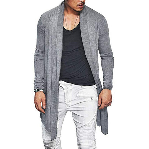 Mens Waterfall Long Sleeve Cardigan