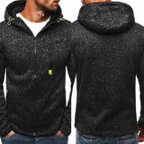 Mens Maniche Lunghe Zipper Hoodies