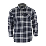 Mens Check Shirts Brave Soul Flannel Brushed Cotton Long Sleeve - Toplen