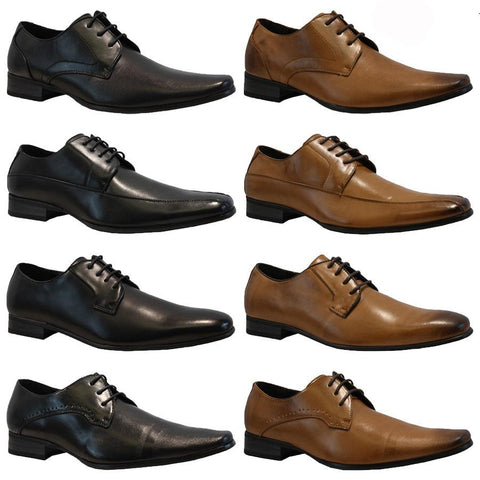 Mens Smart Faux Leather Wedding Office Work Shoes - Toplen