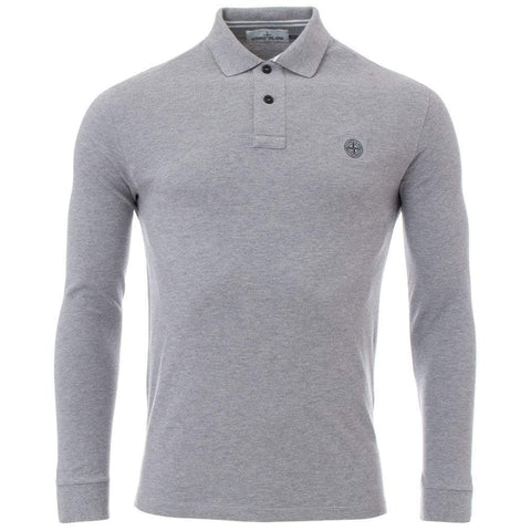 Men's Stone Island Long Sleeve Polo T Shirts - Toplen
