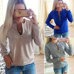 Womens Long Sleeve Hoodie Sweatshirt Sweater Casual Pullover Tops - Toplen