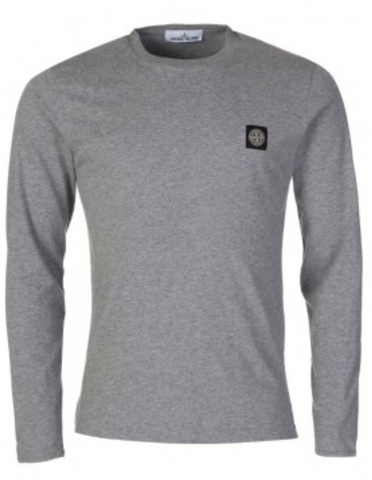 Men's Crew Neck Long Sleeve Polo T Shirt - Toplen