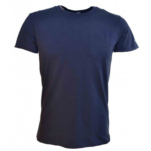 Mens Plain Navy Blue T Shirt - Toplen
