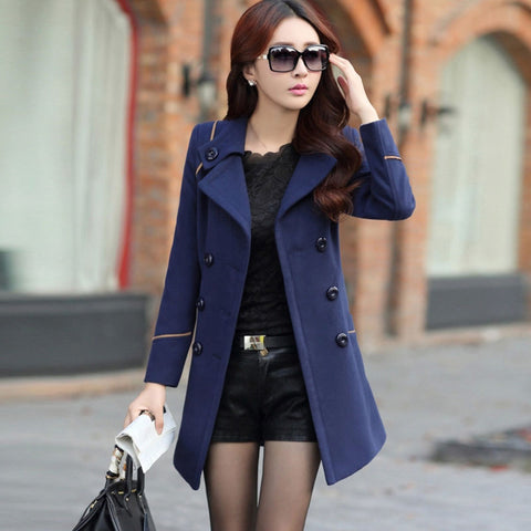 Ladies Winter Slim Long Coat Parka Overcoat - Toplen