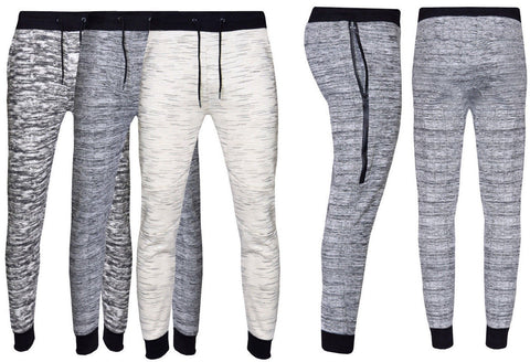 Mens Slim Fit Tracksuit Bottoms Skinny Jogging Joggers Sweat Pants Trousers - Toplen