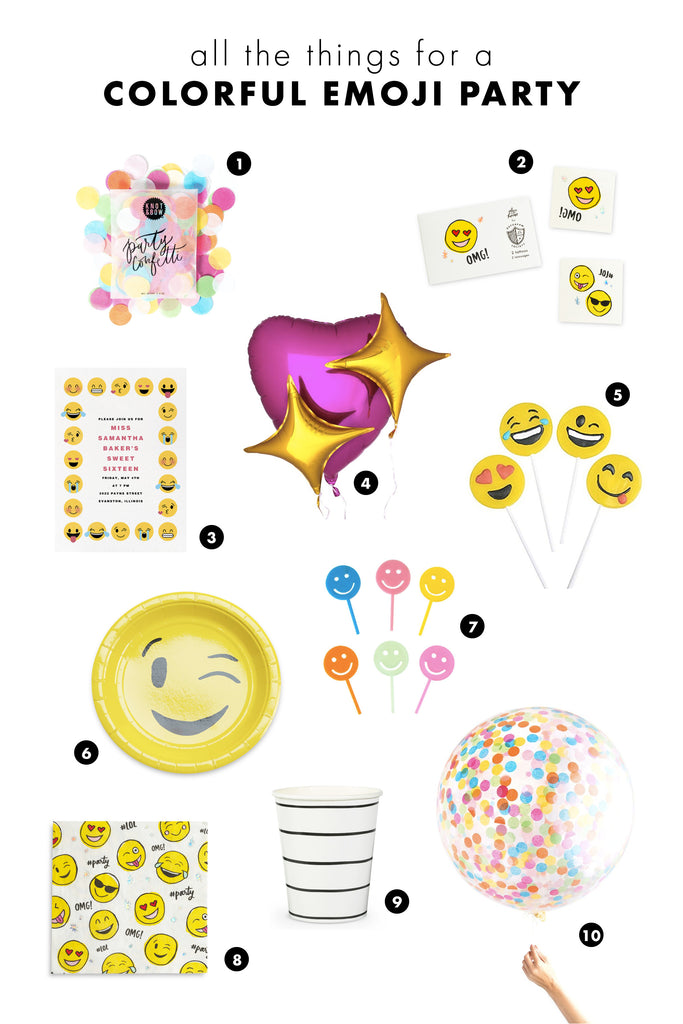all the things: colorful emoji party