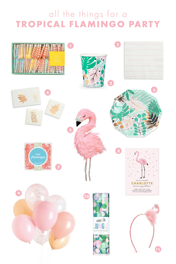 all the things: tropical flamingo party