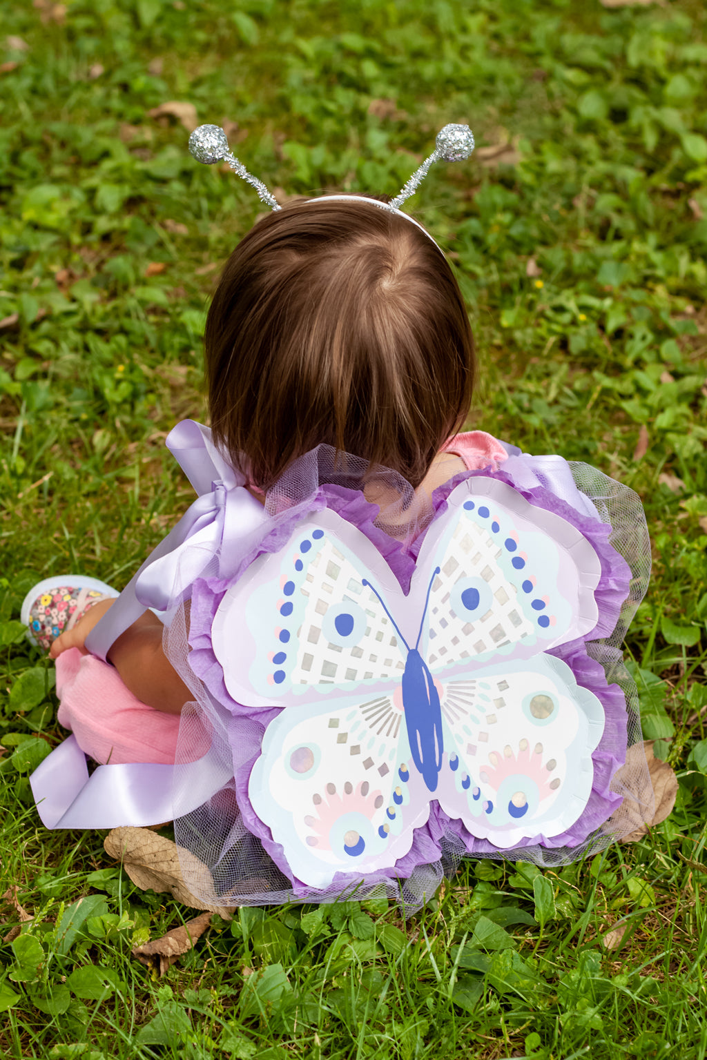 finished baby butterfly costume