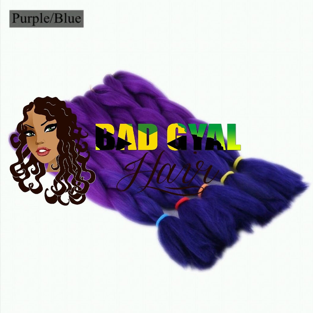 Purple & Blue Braiding Hair