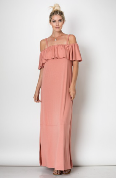 Mariella Ruffled Maxi Dress