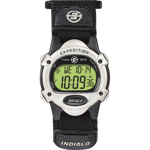 Timex Expedition Womens Chrono Alarm Timer - Silver-Black [T47852]