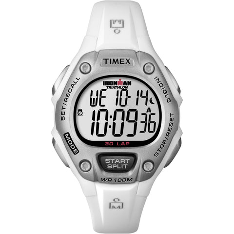 Timex IRONMAN 30-Lap Mid-Size Watch - White [T5K515]